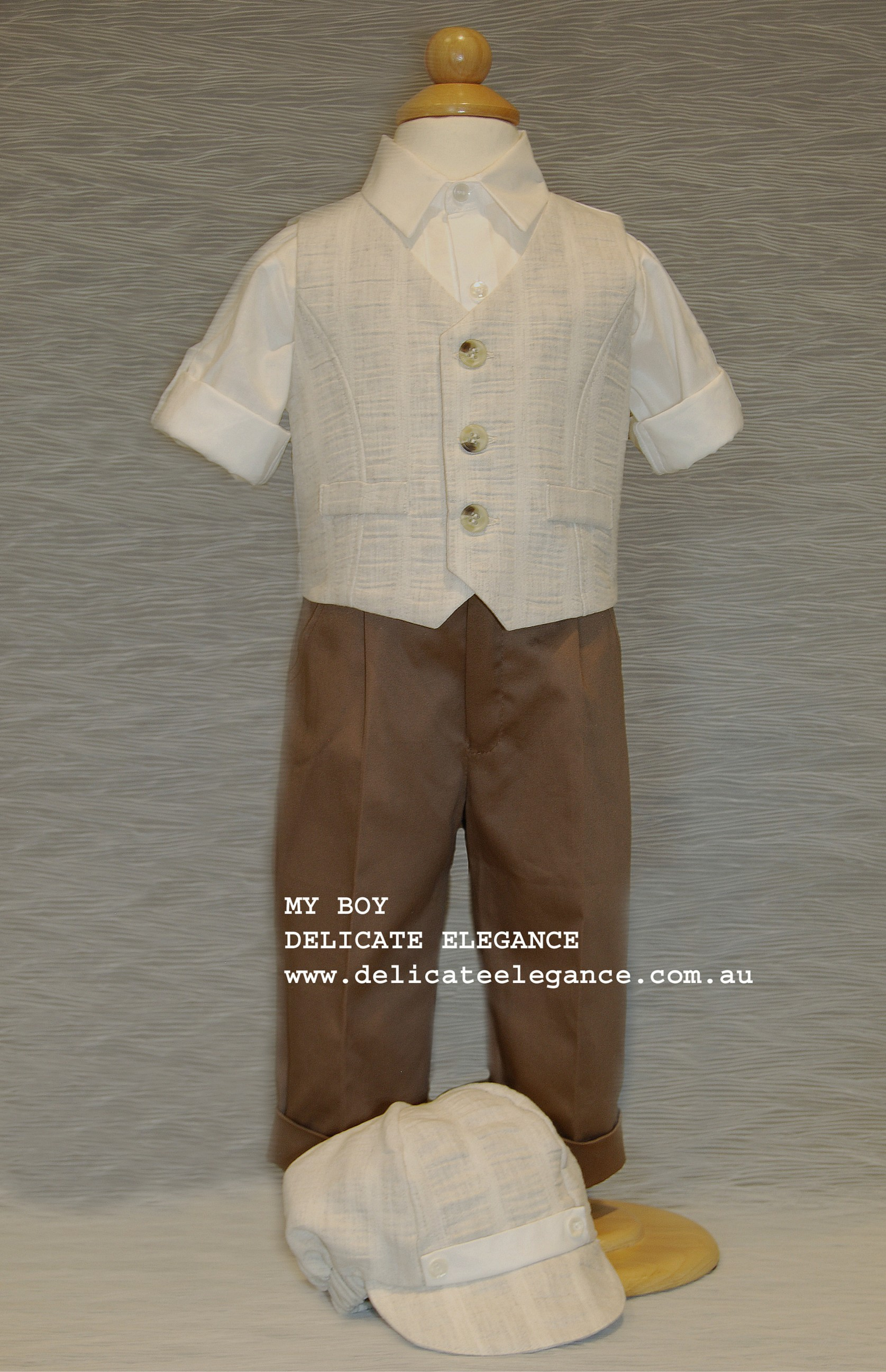 1211-02: Boys' Four-Piece Christening Suit