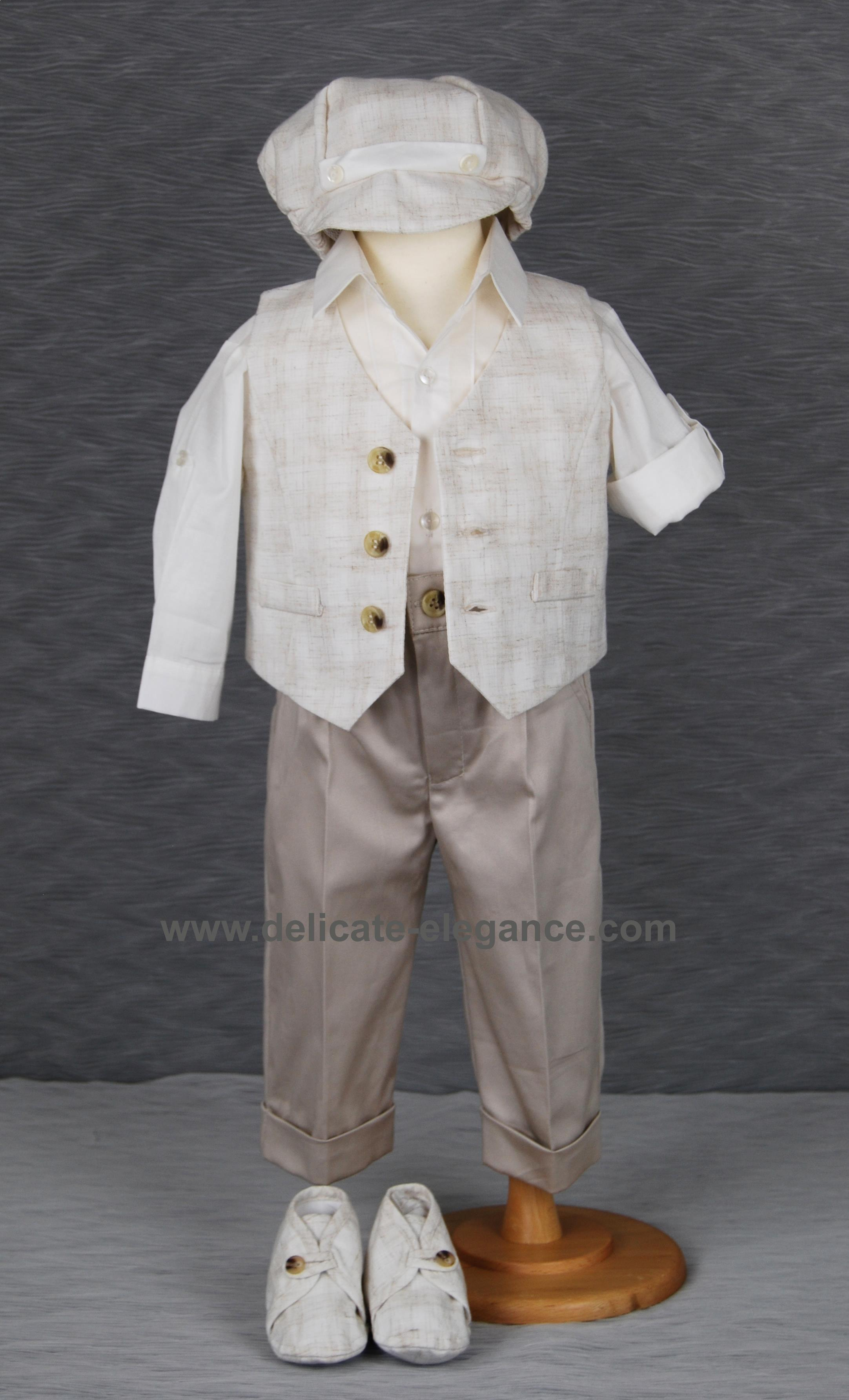1211-03: Boys' Four-Piece Christening Suit
