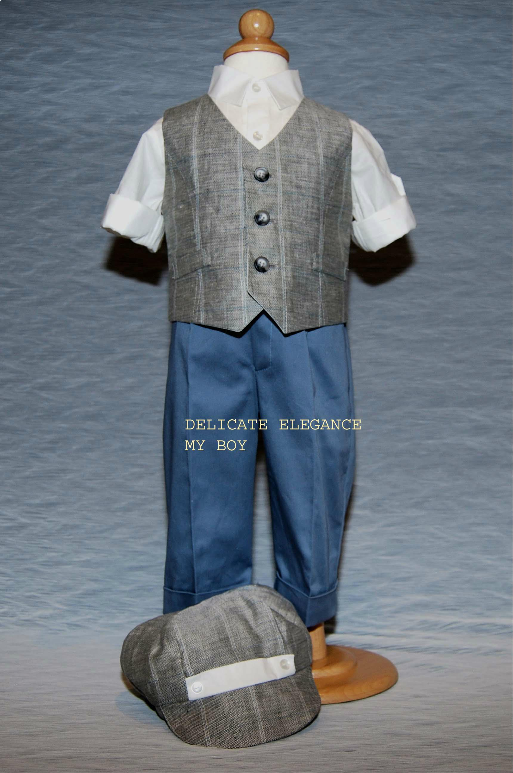 1212: Boys' Four-Piece Christening Suit