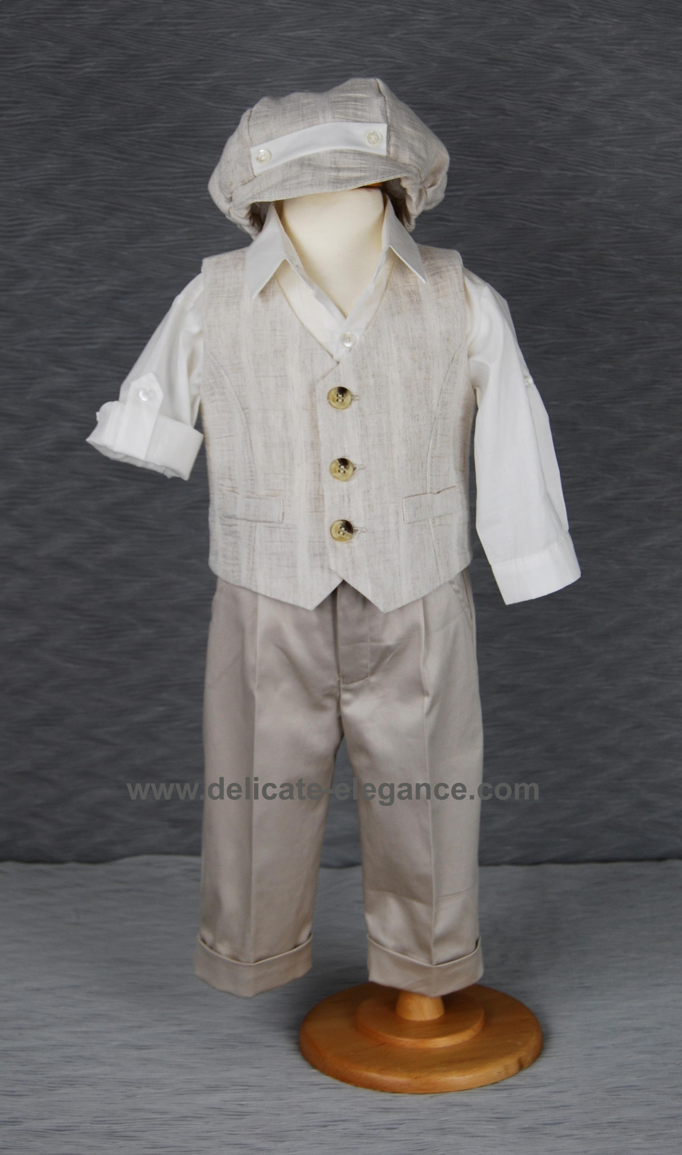 1211-01: Boys' Four-Piece Christening Suit